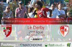Le derby entre Pully et Lutry sera diffusé en direct