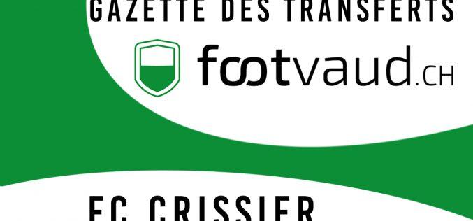 «Gazette des transferts»: FC Crissier