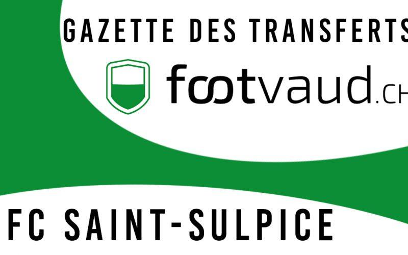 «Gazette des transferts»: FC Saint-Sulpice