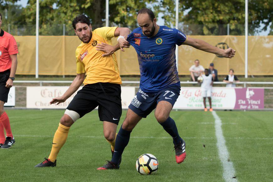 Gentian Bunjaku lors de la rencontre face au Meyrin FC (Crédit photo: Ian Vaney)