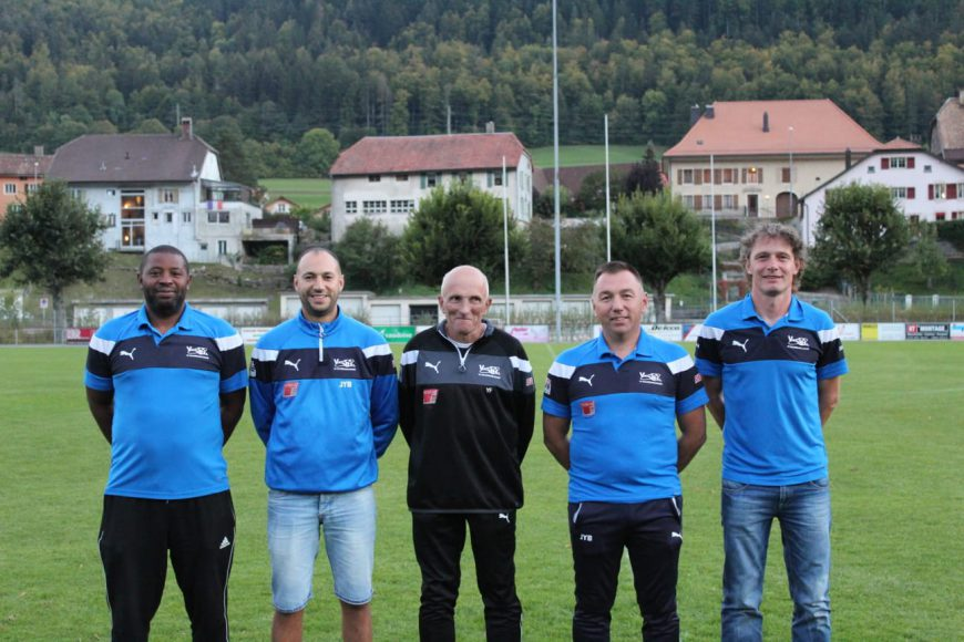 Le staff du FC Vallorbe-Ballaigues