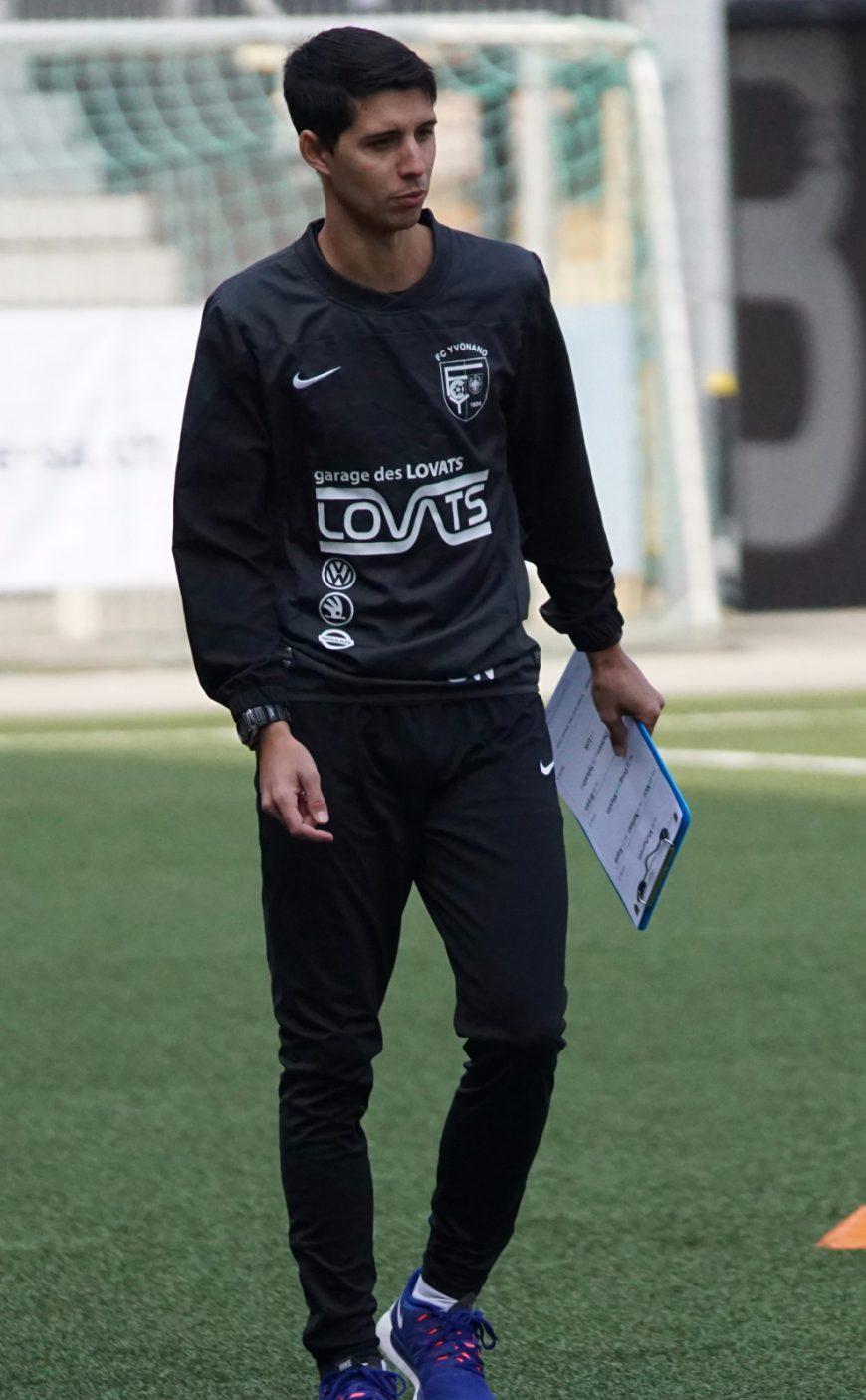 Benjamin Wolf entraîneur du FC Yvonand