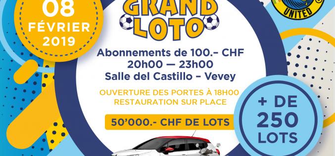 Vevey United organise son loto le 8 février 2019